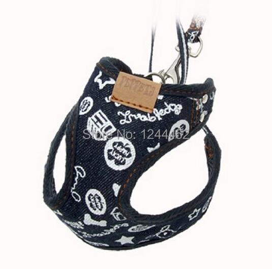 Black Safety Pet Dog Belt car Adjustable light Outdoor walking Playing lead restraint Nylon Harness Leash , Size 2