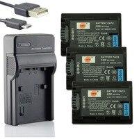 DSTE 3x NP FH50 Li ion Battery Pack + UDC04 USB Port Charger for Sony A390 A230 A330 DSC HX1 HX200 HX100 HDR TG1E TG3 TG7 TG5