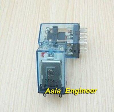 10x 24V DC Coil Power Relay DPDT LY2NJ HH62P-L JQX-13F ly2nj ac220v dc24v coil 2no 2nc 8pin power electromagnetic relay w ptf08a socket