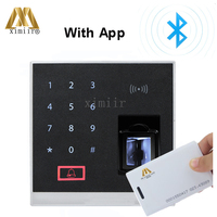 x8 bt fingerprint access control system supports bluetooth with the RFID reader ZK biometric fingerprint access control
