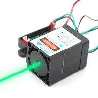 Oxlasers Высокая мощность 520nm TRUE 1 Вт 1000 мВт зеленый лазерный модуль точечный диод laserTTL лазерная головка Лазерная птица отпугиватель с охлаждающ...