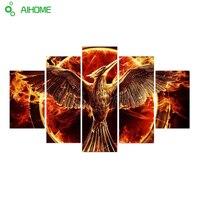 Unframed Fire Bird Phoenix Modern Home Wall Decor Canvas Picture Art HD Print Painting On Canvas