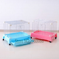 2018 Recommended Rabbit cage Oversized space can move Comfortable Easy to clean Plated Guinea pig cage Rabbit accessories