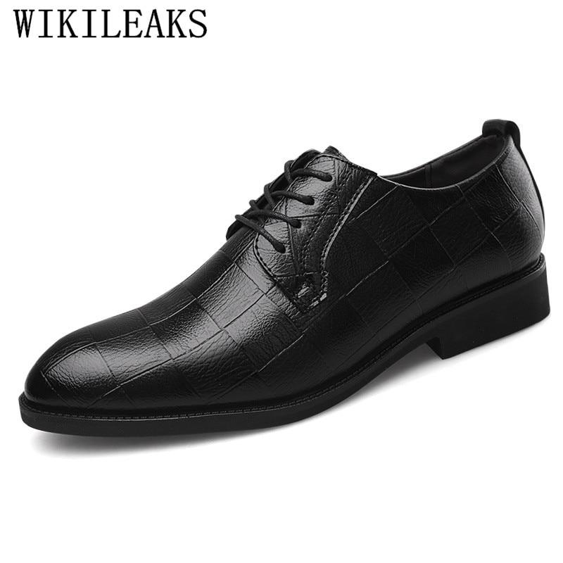 55dd8e3fc45 De Noir Classique Luxe Pour Formelle Oxford En Hommes Marque Chaussures  Mariage Cuir marron Brun Noir ...