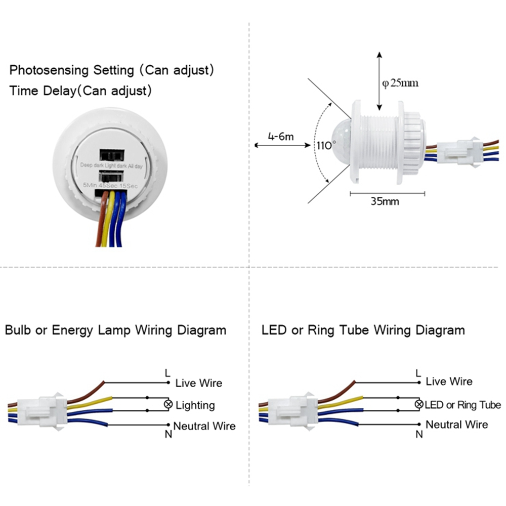 4 Wire Motion Sensor Light Switch Wiring Diagram