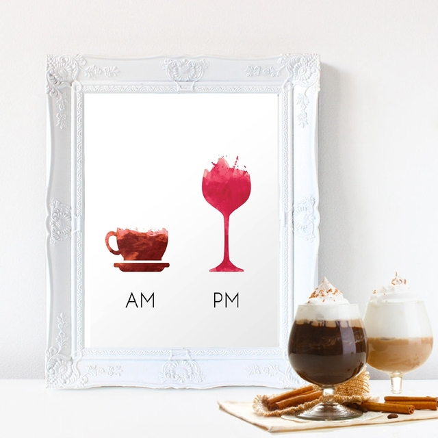 Funny Wine Quote Less Whine More Poster Canvas Art Print Humour Wall Picture Painting Bar
