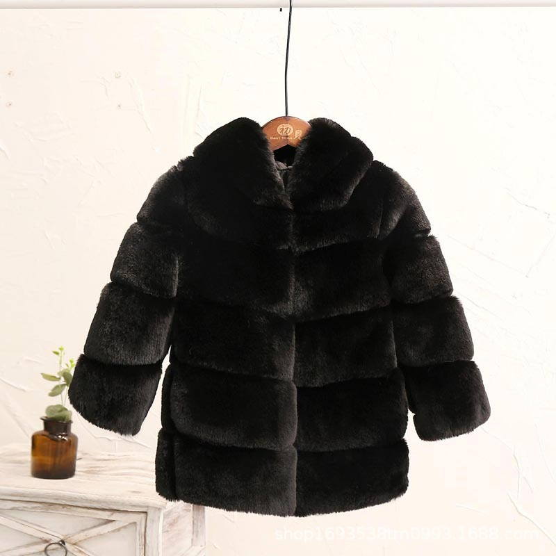 Image 5 - Dollplus New Winter Girls Fur Coat Elegant Thick Warm Baby Girl Faux Fur Jackets Coats Parka Kids Outerwear Clothes Kids Coat-in Jackets & Coats from Mother & Kids