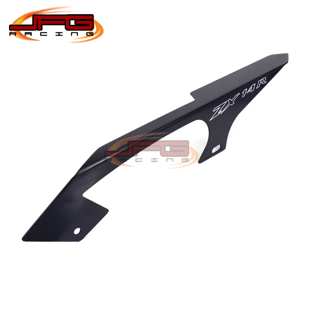 Black Chain Guards Cover For Kawasaki ZX14 / ZX14R 2006 2007 2008 2009 2010 2011 2012 2013 2014 2015 Motorcycle Parts hot tracking for nissan qashqai 2007 2008 2009 2010 2011 2012 2013 aluminum canvas black rear cargo cover