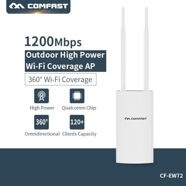 Haute Puissance Extérieure CPE Routeur 300 Mbps 2.4G + 867 Mbps 5G WiFi Pont Point D'accès 500 MW étanche routeur ap répéteur wi-fi Extender