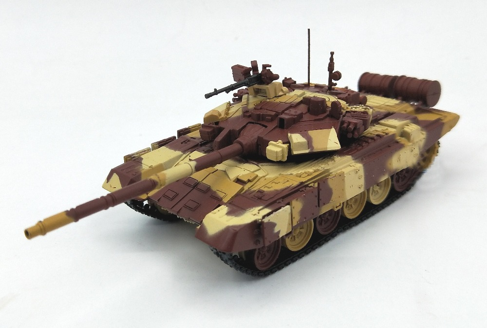 1:72 Russian army T90 T 90S main battle tank model alloy body desert camouflage Collection model