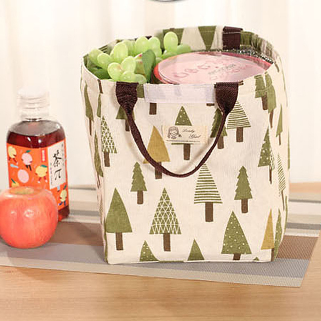 Insulation picnic Bag Waterproof camping Travel basket Storage Transparent Fruit Juice Women Kids Men outdoor Canvas Lunch Box