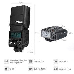 Image 3 - Godox מיני Speedlite TT350S מצלמה פלאש TTL HSS GN36 + X1T S משדר עבור Sony DSLR ראי מצלמה A7 A6000 A6500
