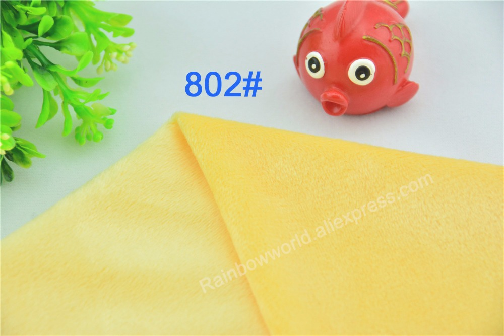 802# light yellow microfiber minky soft velboa tricot