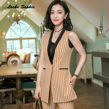 1pcs Womens Plus size Blazers coats 2019 Autumn cotton Splicing Sleeveless Small Suits jackets ladies Skinny