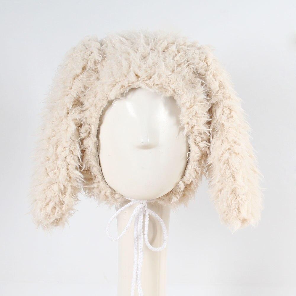 Baby Toddler Kidsnewborn photography accessories Boy Girl Faux Fur Cute  Rabbit Ear Beanie Warm Hat Cap knit winter caps 15 d710d13623ff