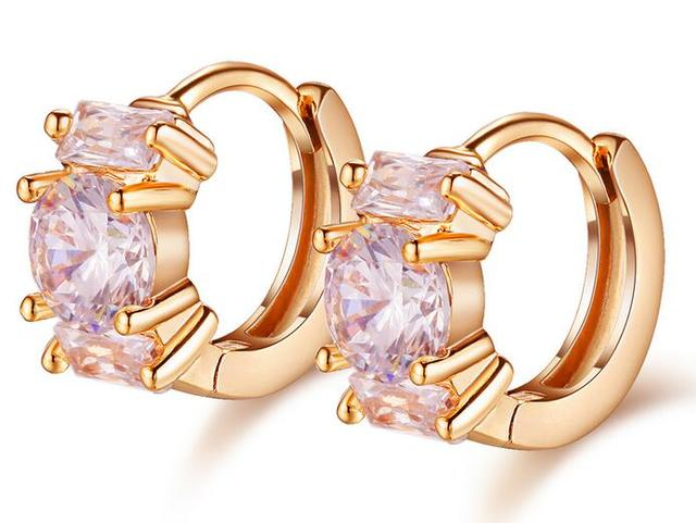 Clip đám cưới đám cưới Earrings Luxury AAA + Cubic Zirconia Nữ Cổ Điển Đồ Trang Sức Giá Rẻ Giá 663