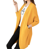 2017 autumn Winter Long Sweater Coat for Women Formal Long Cardigans loose Sweaters Oversized Coat Batwing Sleeve Knitted coats