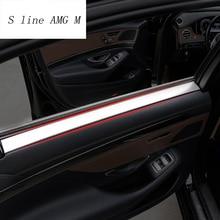 Стайлинга автомобилей интерьера ручки Обложки Обрезать дверь чаша наклейки декоративные для Mercedes Benz S Class W222 2014-2017 авто аксессуары