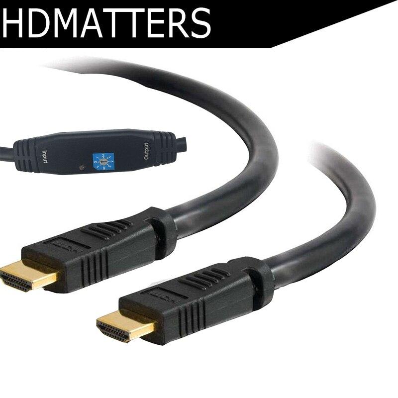 Active HDMI câble 30 m 20 m 15 m 10 m Avec booster (24AWG + déjouer + AL tressage + RedMere Puce)