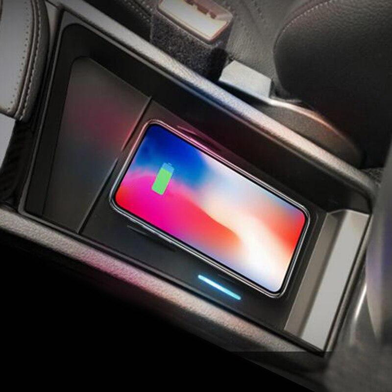 Pour BMW X1 F48 2016-2019 chargeur sans fil QI embarqué chargeur de charge rapide panneau de charge accessoires pour iPhone 8 pour Samsung
