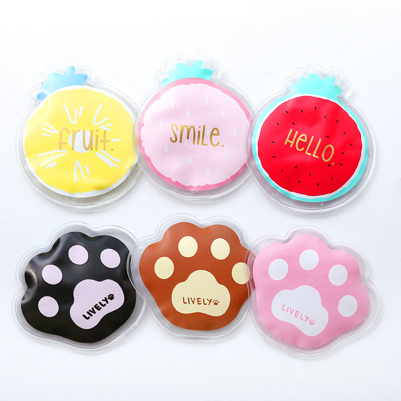 PACGOTH Summer Mini Portable PVC Ice Pack Cooler Bags 2018 New Fresh Kawaii Fruits Paw Cute Cold Compress Bags Ice Pack Gel 1 PC ...