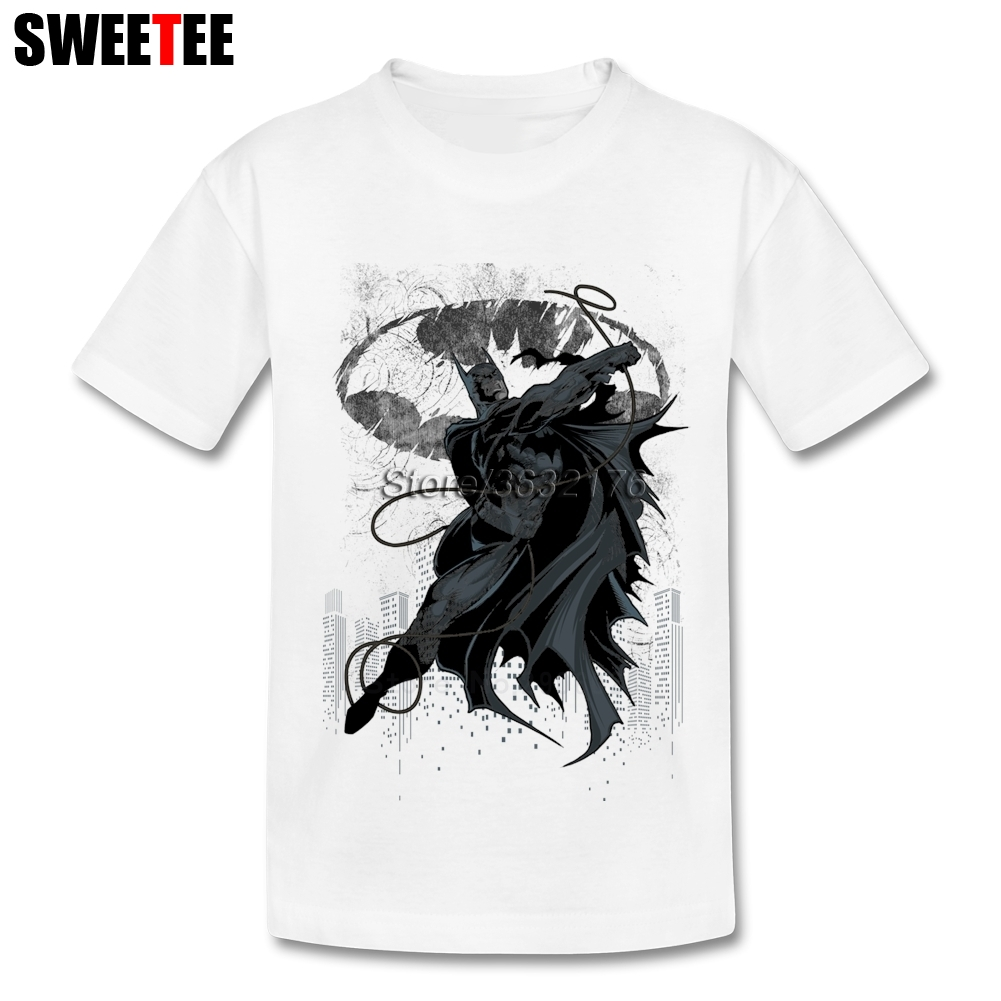 Bat City Children T Shirt Pure Cotton Short Sleeve Round Neck Tshirt Teeshirt Boys Girls ...