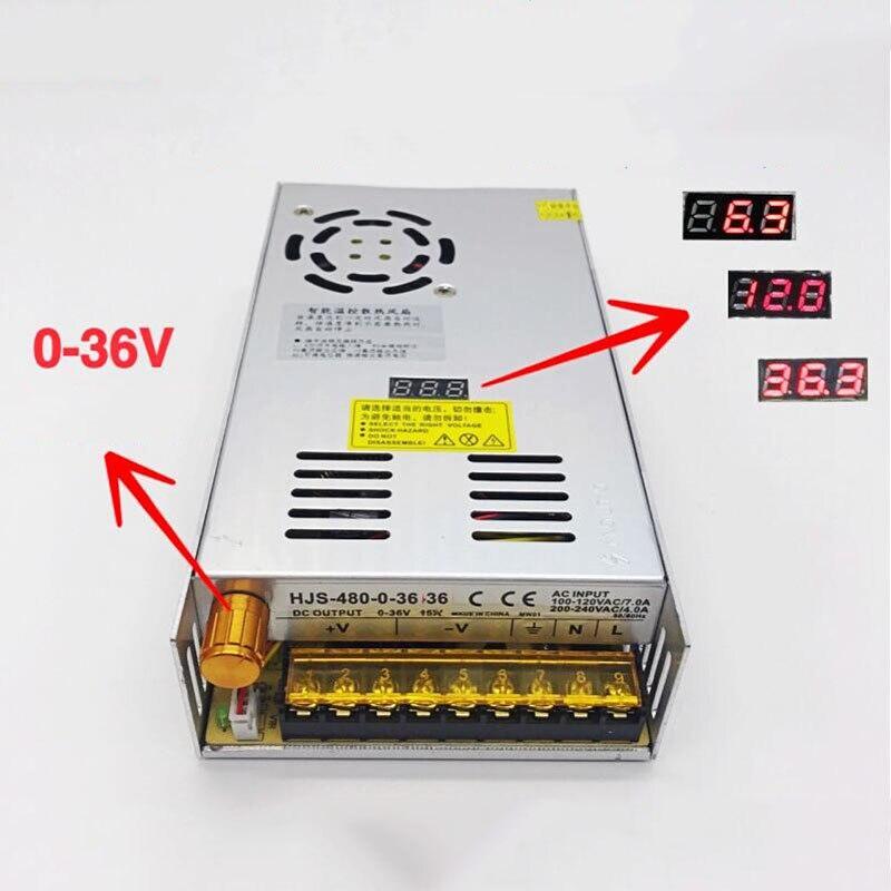 In AC 110V 220V Adjustable 36V DC voltage stabilization Digital switching power supply 0 36V 15A