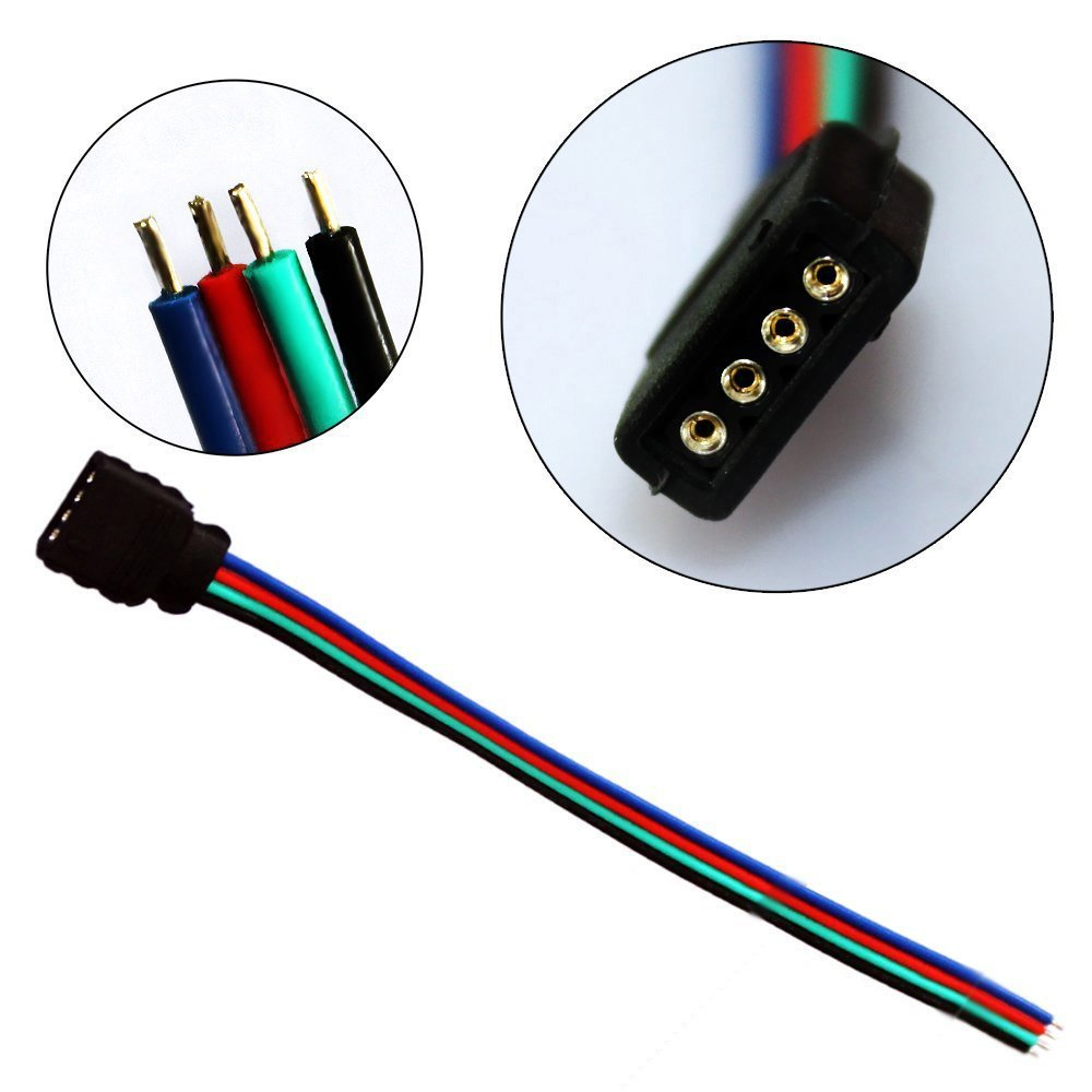 small resolution of us 3 9 10pcs lot 10cm rgb 4pin female connect wires for rgb led strip 4