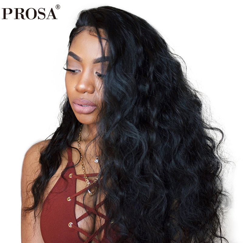 Silk Base Lace Front Human Hair Wigs Pre Plucked 250% Density Brazilian Body Wave Frontal Wig With Baby Hair Prosa Remy