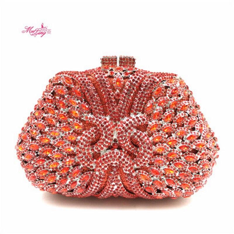 New Diamond Packages Dinner Purse Evening Wallet Handbag Banquet Purse Women Socialite Party Prom Bag Bridal Clutches Gift Box