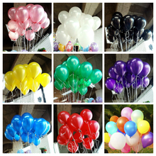 10pcs Lot 1.5g Inflatable Pearl Latex Balloon for Wedding Decorations Air Ball Party Supplies Happy Birthday