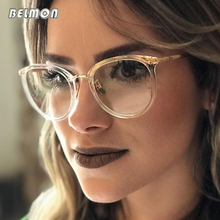 Belmon Spectacle Frame Women Eyeglasses Computer Prescription Myopia Optical For Female Eyewear Clear Lens Glasses Frame RS522