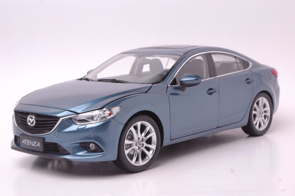 1:18 Diecast Model for Mazda 6 Atenza Blue Sedan Alloy Toy Car Miniature Collection Gift MX5 MX 1 18 diecast model for mazda mx 5 red roadstar alloy toy car miniature collection gift mx5 mx