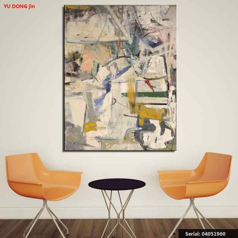 William Kooning nature morte Peinture à l'huile Classique Dessin art de Toile sans cadre figure hologramme paysage wax04051960