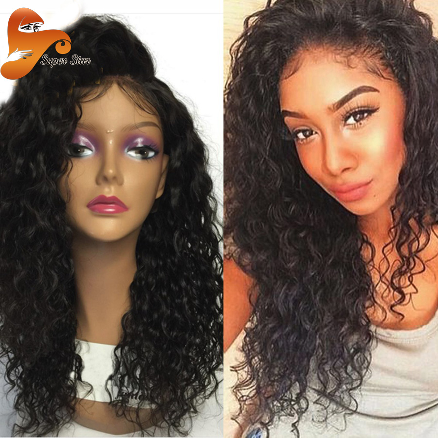 8a Curly Full Lace Human Hair Wigs For Black Women Virgin