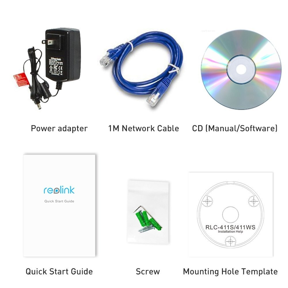 US $125 99 |Reolink RLC 411S 4MP 1440P POE Security 4X Optical Zoom with  Built in 16GB Micro SD Card Outdoor Waterproof Bullet IP Camera-in