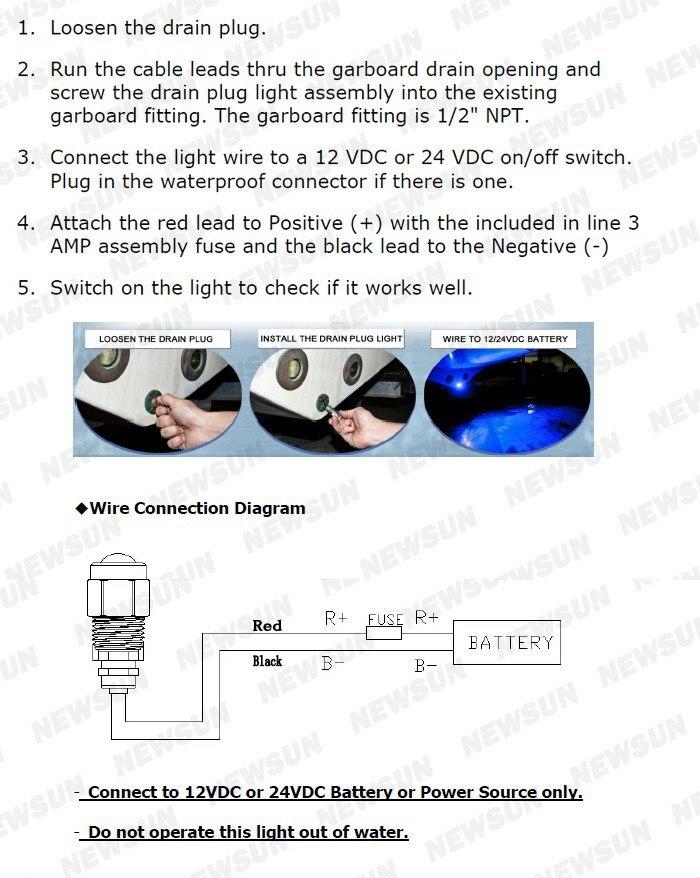 Водонепроницаемый IP68 RGB 27 Вт лодка слива свет 9 LED Лодка свет подводные лодки лампа
