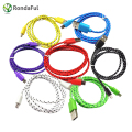 2M/3M Colorful Weave Micro USB Cable V8 Wiring Data Sync Charging Cable Smart phone Line for Samsung Xiaomi Android Tablet