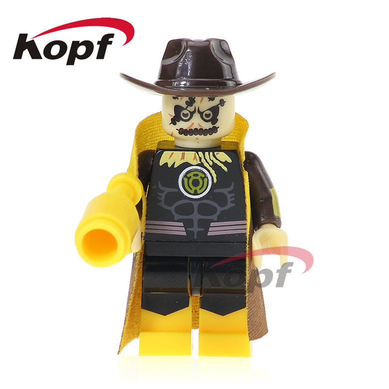50Pcs XH 560 Super Heroes Lobo Black Adam Yellow Light the Scarecrow Shazam Legends of Tomorrow Building Blocks Toy for children