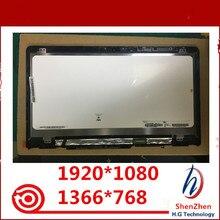 الأصلي 14 IPS LCD شاشة تعمل باللمس محول الأرقام الجمعية + الإطار b140xtn04.e N140HCE EBA ل HP بافيليون X360 14M BA 14 ba سلسلة