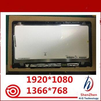 Original 14'' IPS LCD Touch Screen Digitizer Assembly+Frame B140XTN02.E N140HCE-EBA for HP PAVILION X360 14M-BA 14-ba series