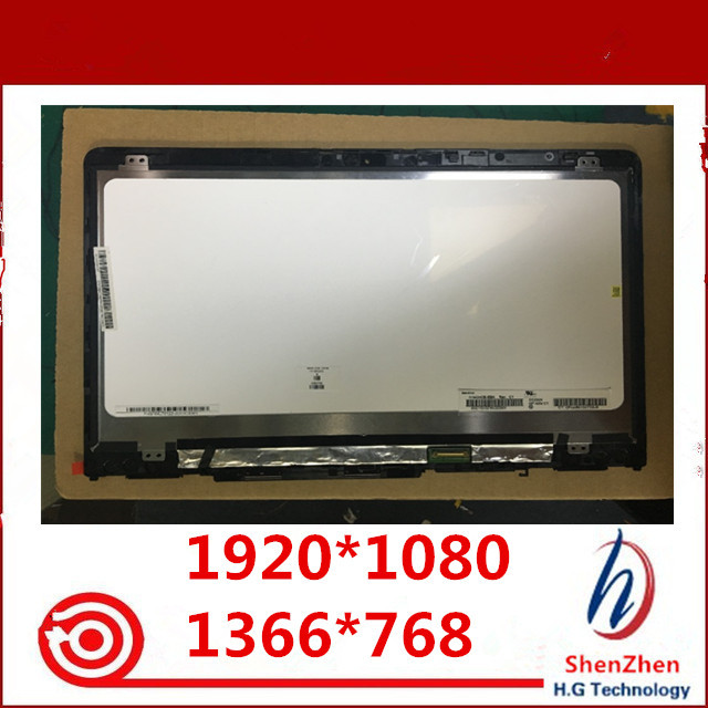 Originale 14 IPS LCD Touch Screen Digitizer Assembly + Telaio B140XTN02.E N140HCE EBA per HP PAVILION X360 14M BA 14 ba serie