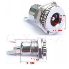 10pcs High quality Copper 5.5mm x 2.5mm Female DC Socket JACK Power Plug Female Panel