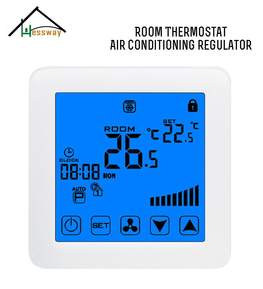 4P EU Timing program fan coil thermostat for incubator app universal remote thermostat fan coil with 2p 4p