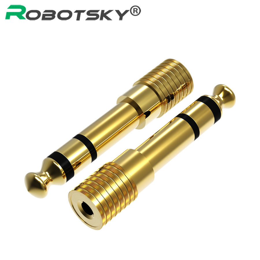 6.35mm 1/4 Male To 3.5mm 1/8 Female Audio Adapter 6.35 to 3.5 Jack Stereo Connect Converter For Headphone Microphone Connector reliable 100% brand new and high quality 2 5mm male to 3 5mm female stereo audio headphone jack adapter converter