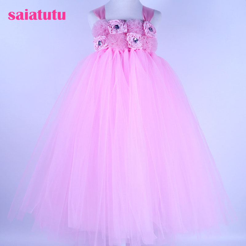 tutu Girls Dress Mesh crystal Children pink Wedding Party Dresses Kids Evening Ball Gowns Formal Baby Frocks Clothes for Girl star dress for girl european style bow tutu dress long sleeve mesh girls dresses leisure holiday kids clothes pink black