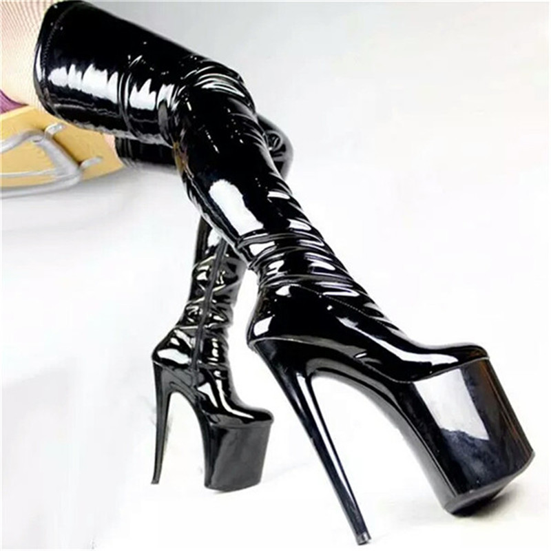 Women's Thigh High Boots Suede Classic Stretch Over The Knee Boots Sexy Slim Boot Wine Fashion Ultra High Heel Stripper Shoes high heel real leather pointy suede slim thigh women boots stretch velvet over the knee sexy extreme stiletto shoes sheepskin