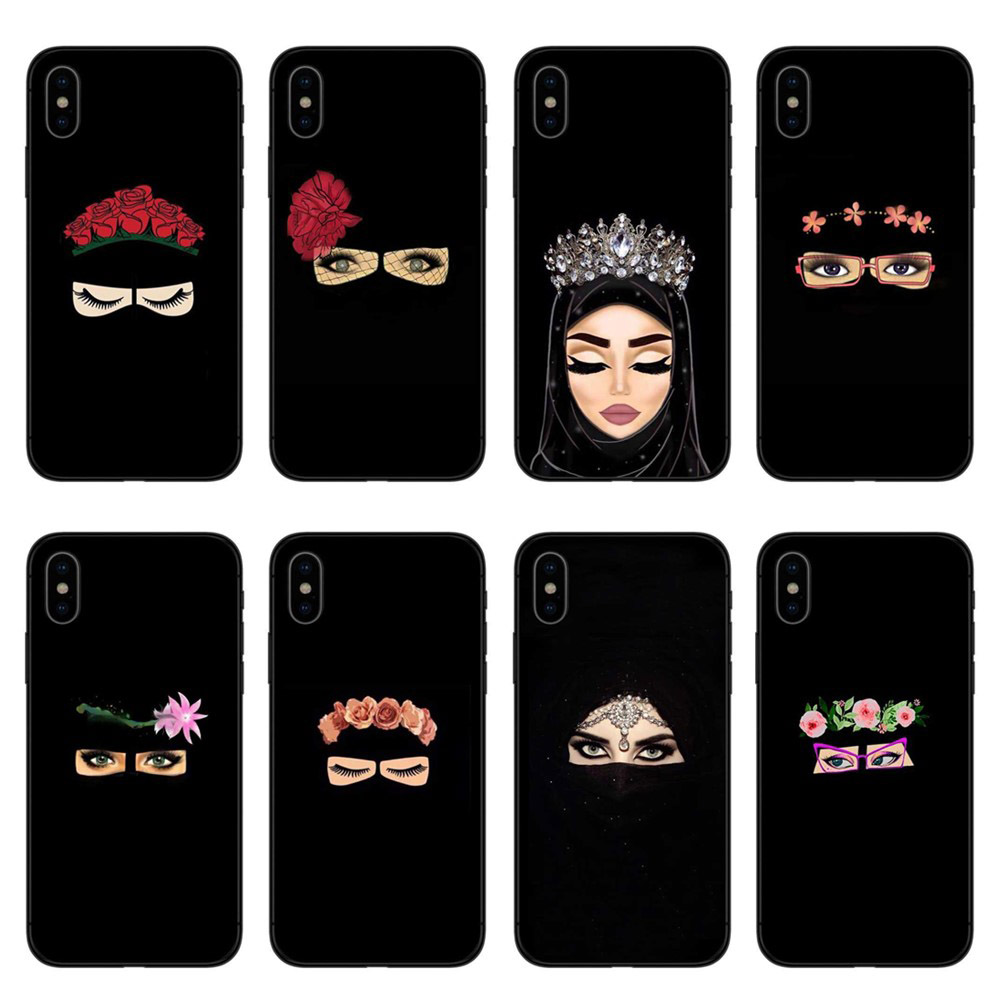 Muslim Islamic Gril Eyes Arabic Hijab Girl Phone Case Cover For Iphone X 8 8plus 7 7plus 6 6s Plus 5 5s Se Black Protector Shell Less Expensive Fitted Cases Back To Search Resultscellphones & Telecommunications