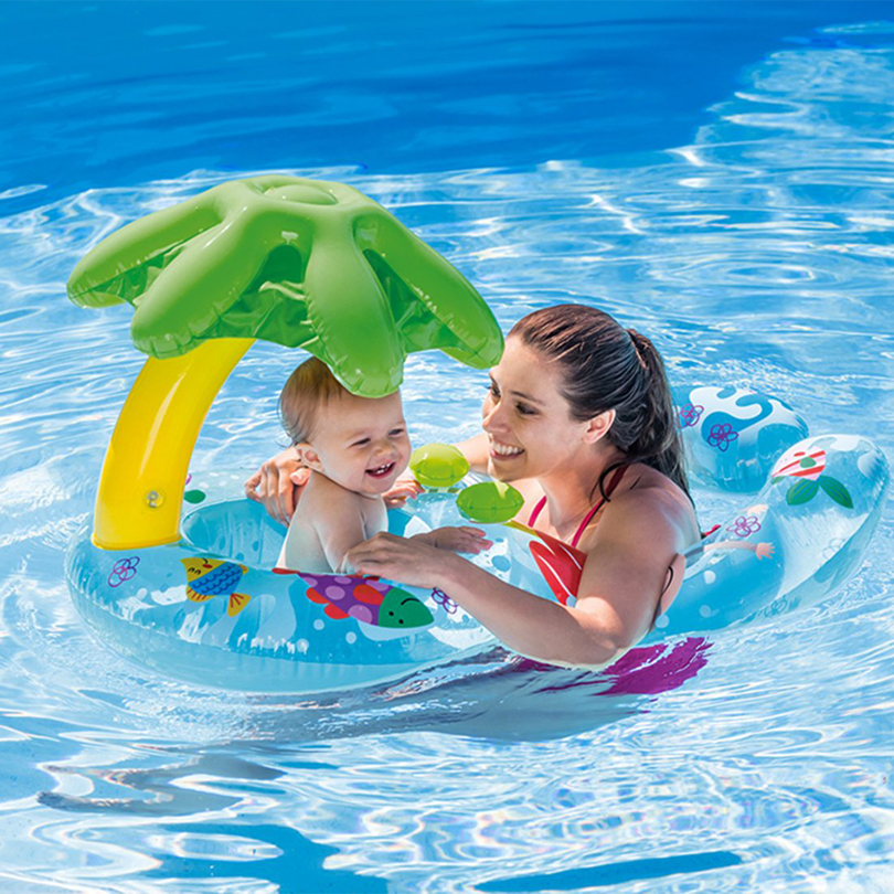 Eoges INTEX 56590 My First Swim Float On Island Leaf for Me and Mom just me and my dad little critter