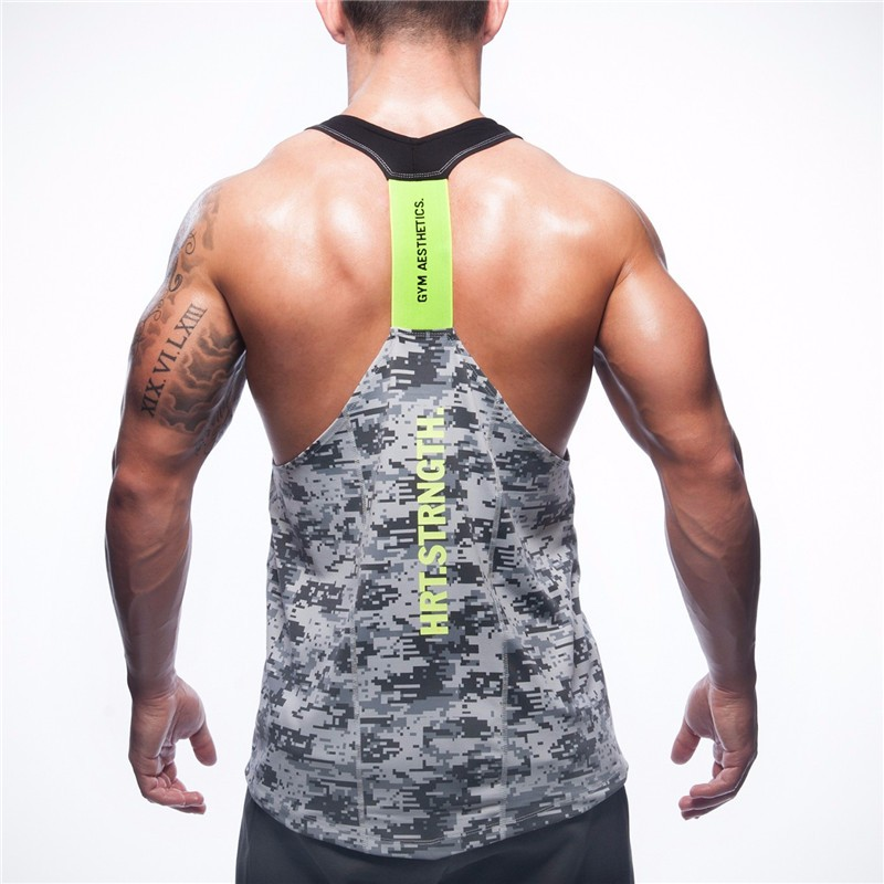2017 summer brand clothing Mens   Tank     Tops   Stringer Bodybuilding Fitness absorb sweat breathe freely Men   Tanks   Clothes Singlets.